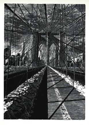Brooklyn Bridge: New Day, 2015, Anne Desmet RA. Courtesy Long & Ryle